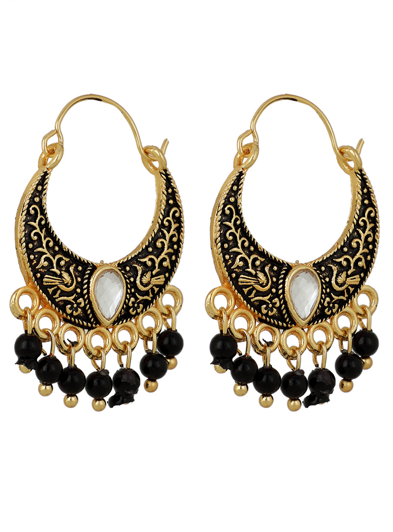Black Brass Earrings 150753