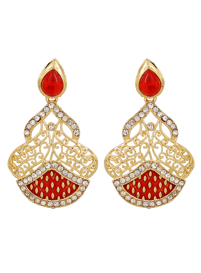 Red Brass Earrings 150769