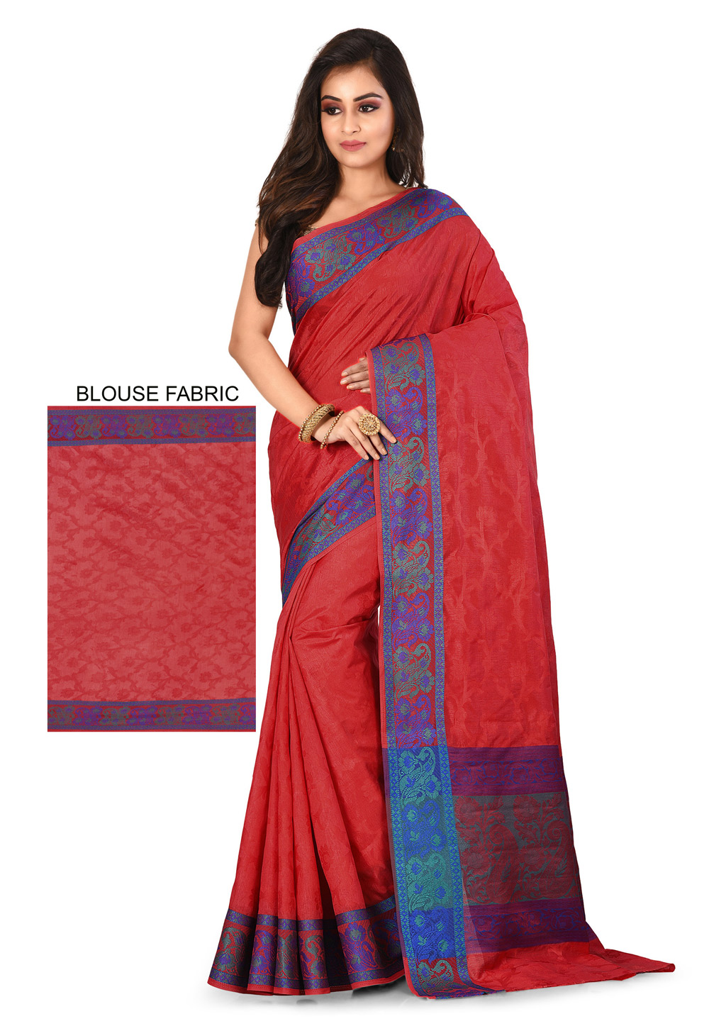 Red Art Silk Saree With Blouse 198417