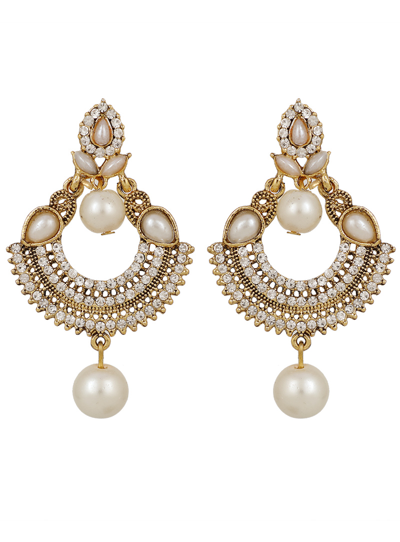 White Brass Earrings 150780