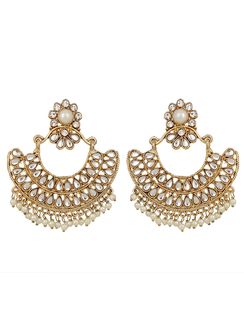 White Brass Earrings 150788