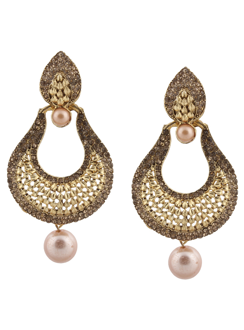 Brown Brass Earrings 151056