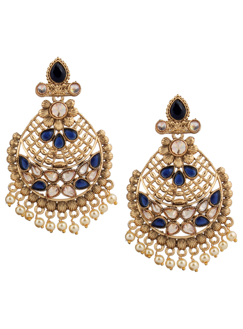 Blue Brass Earrings 151066