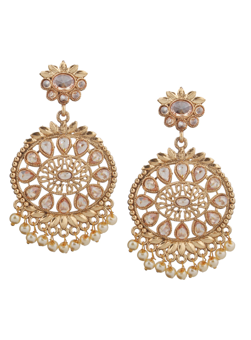 Golden Brass Earrings 151089