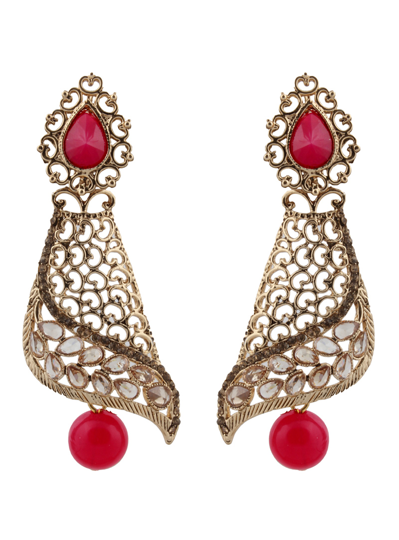 Pink Brass Earrings 151137
