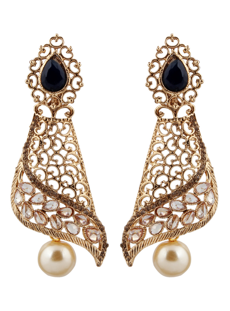 Golden Brass Earrings 151138