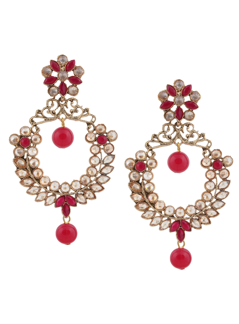 Pink Brass Earrings 151144