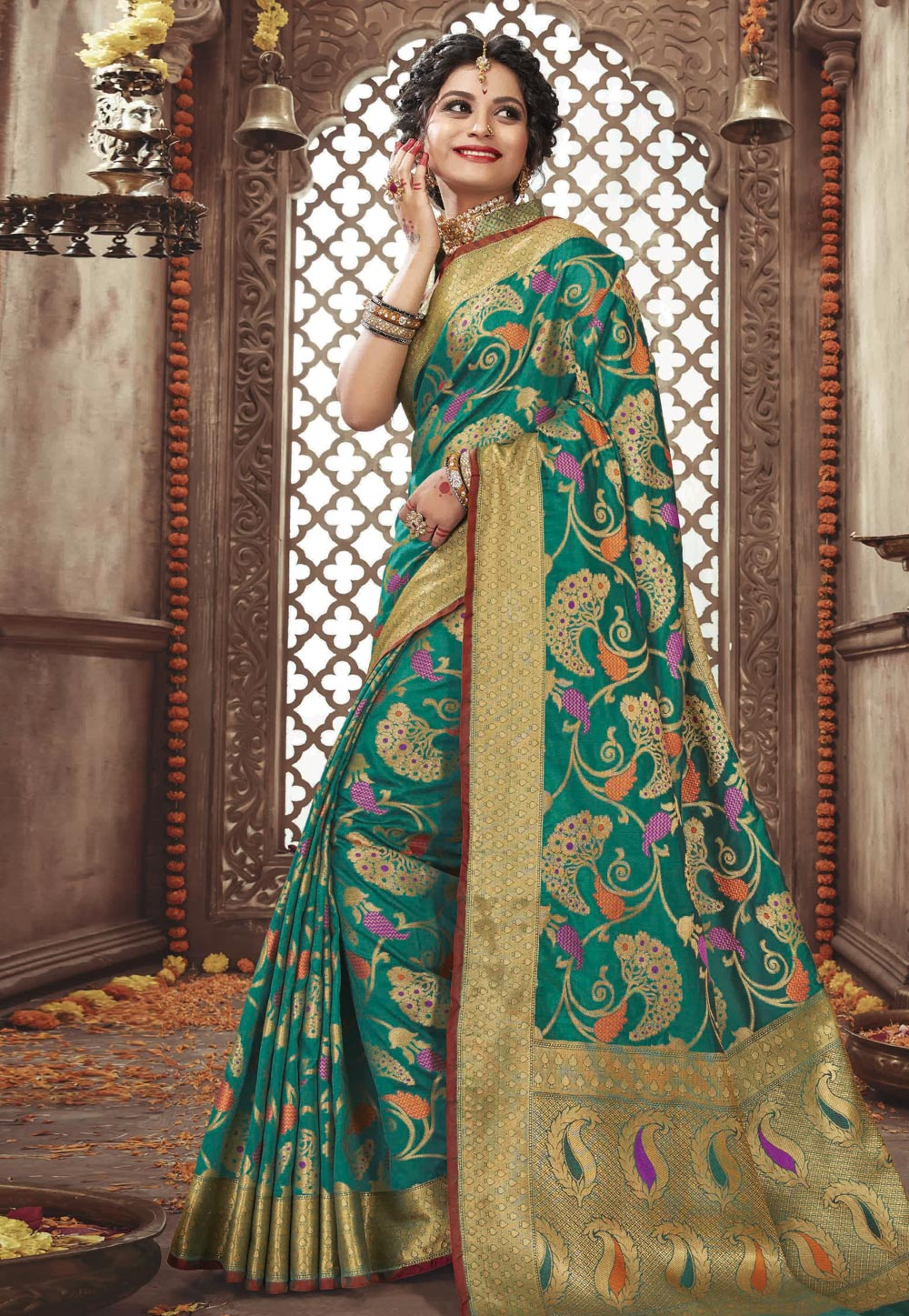 Green Pure Silk Saree With Blouse 200253