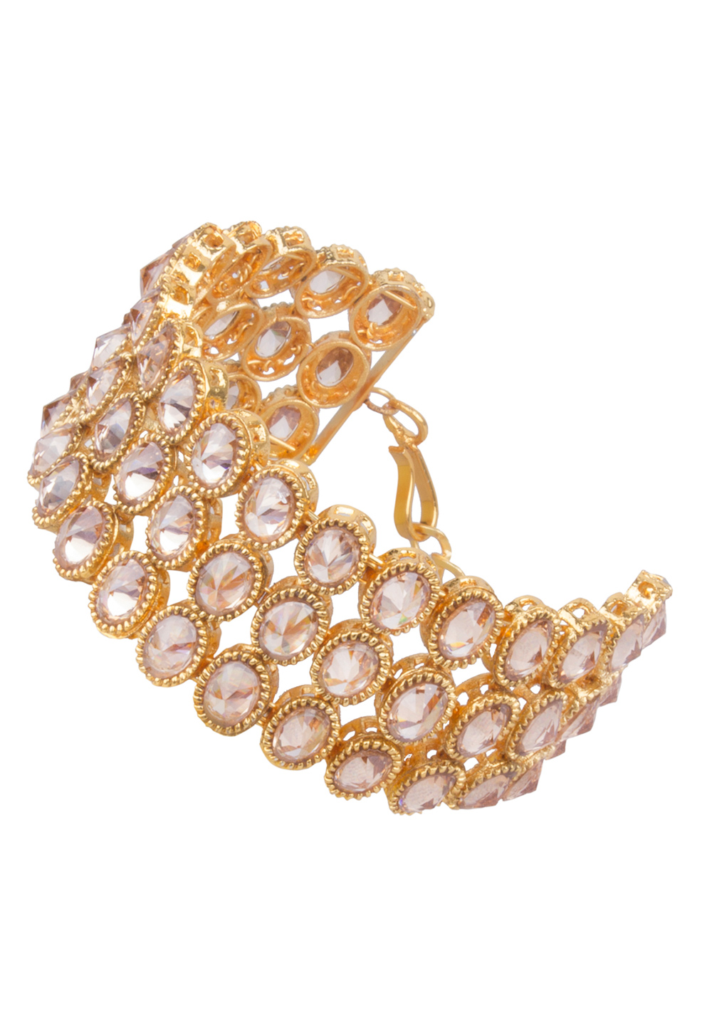 Golden Brass Kundan Bracelet 162077