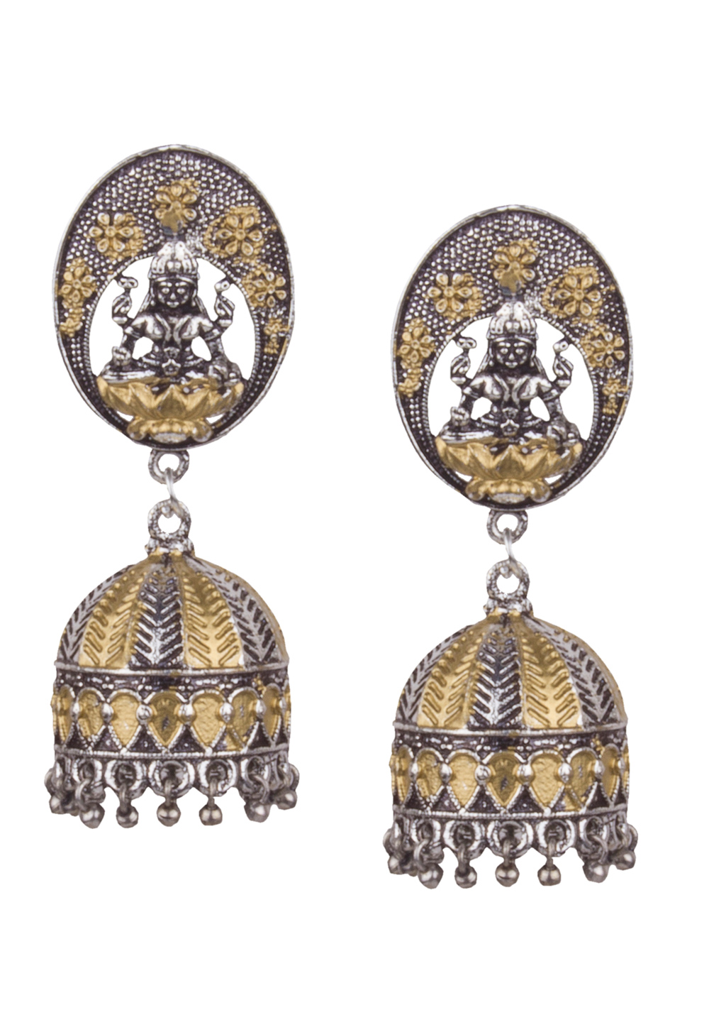 Golden Brass Kundan Earrings 164829