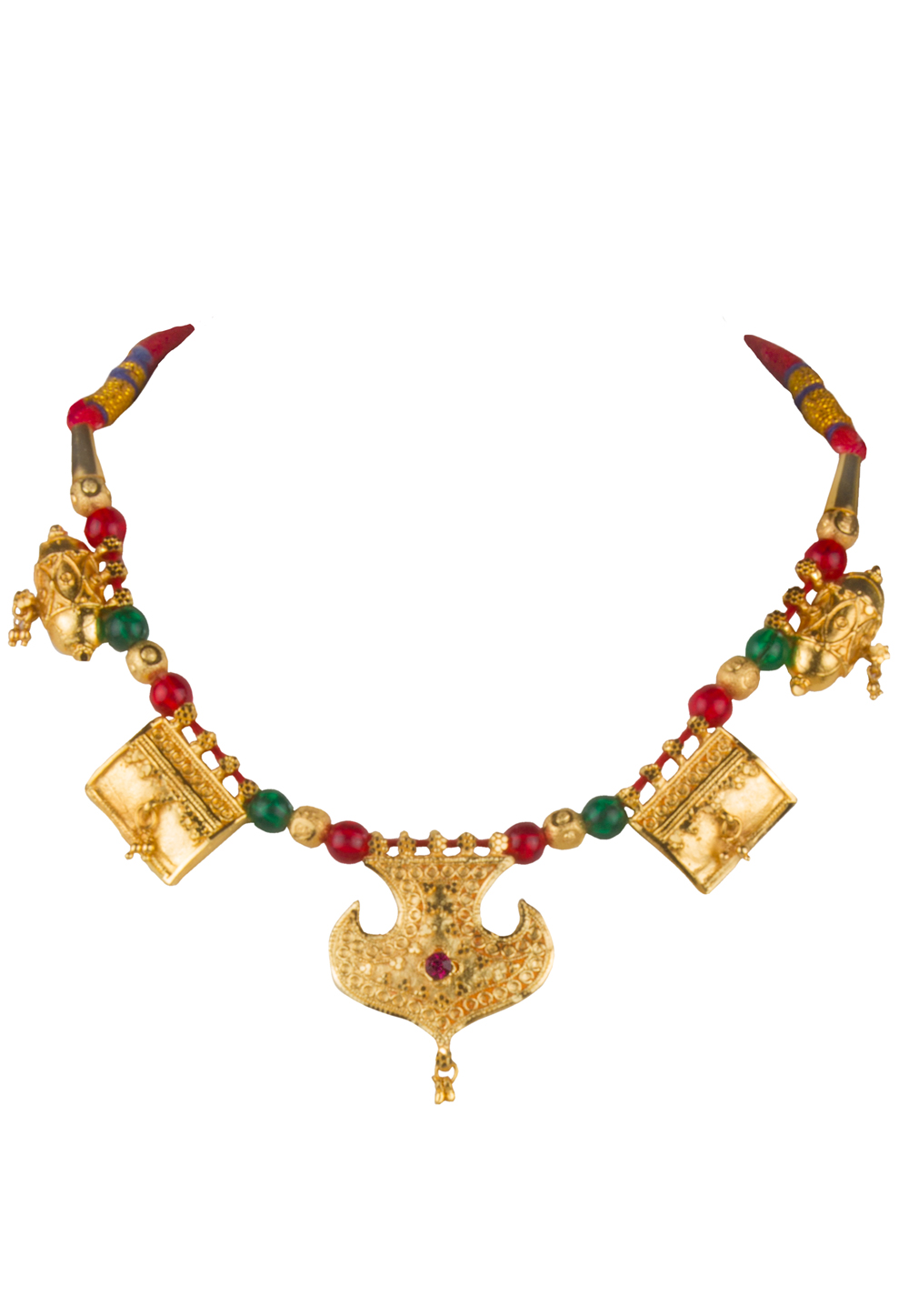 Golden Brass Gold Plated Necklace 171912