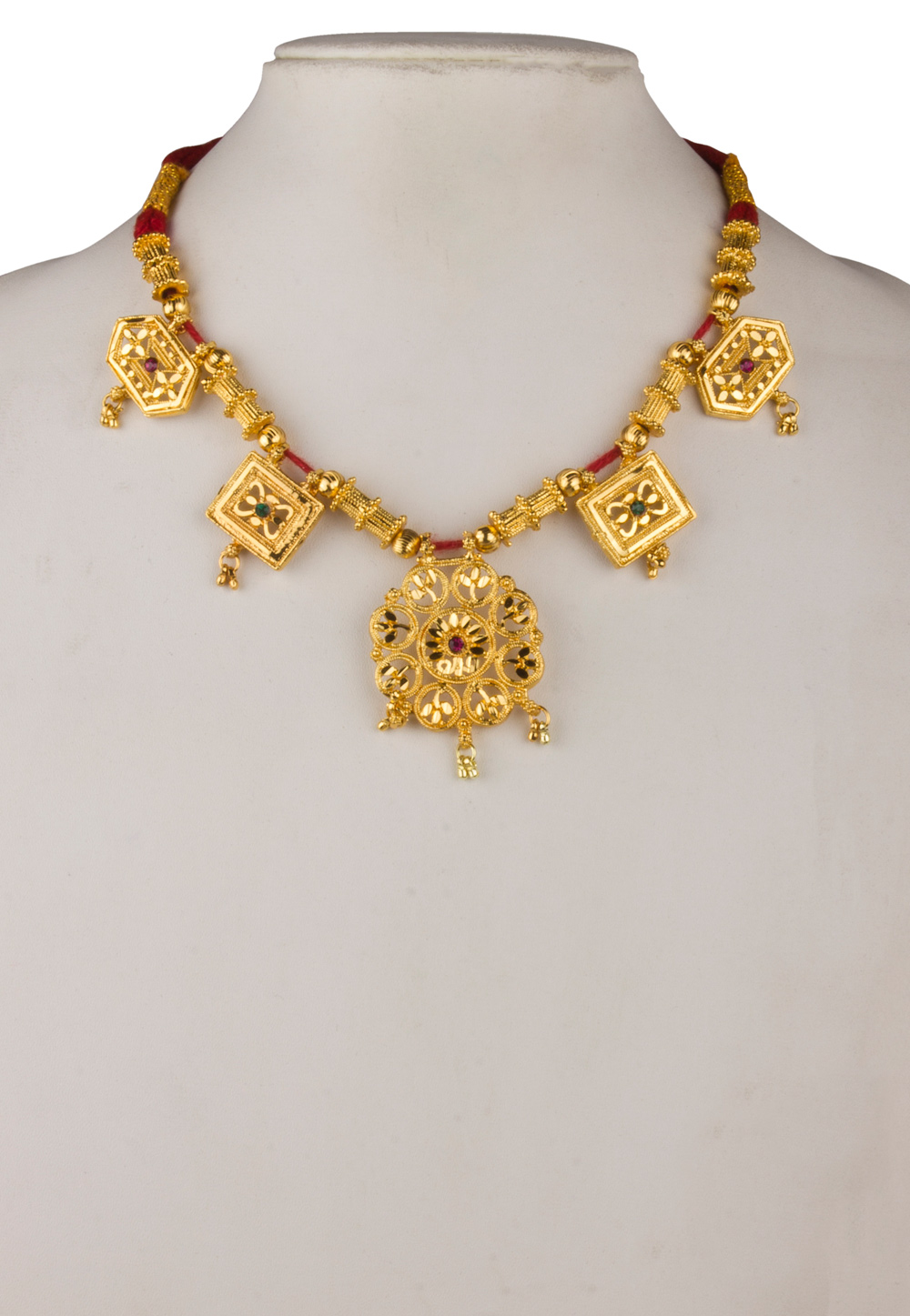 Golden Brass Gold Plated Necklace 171913
