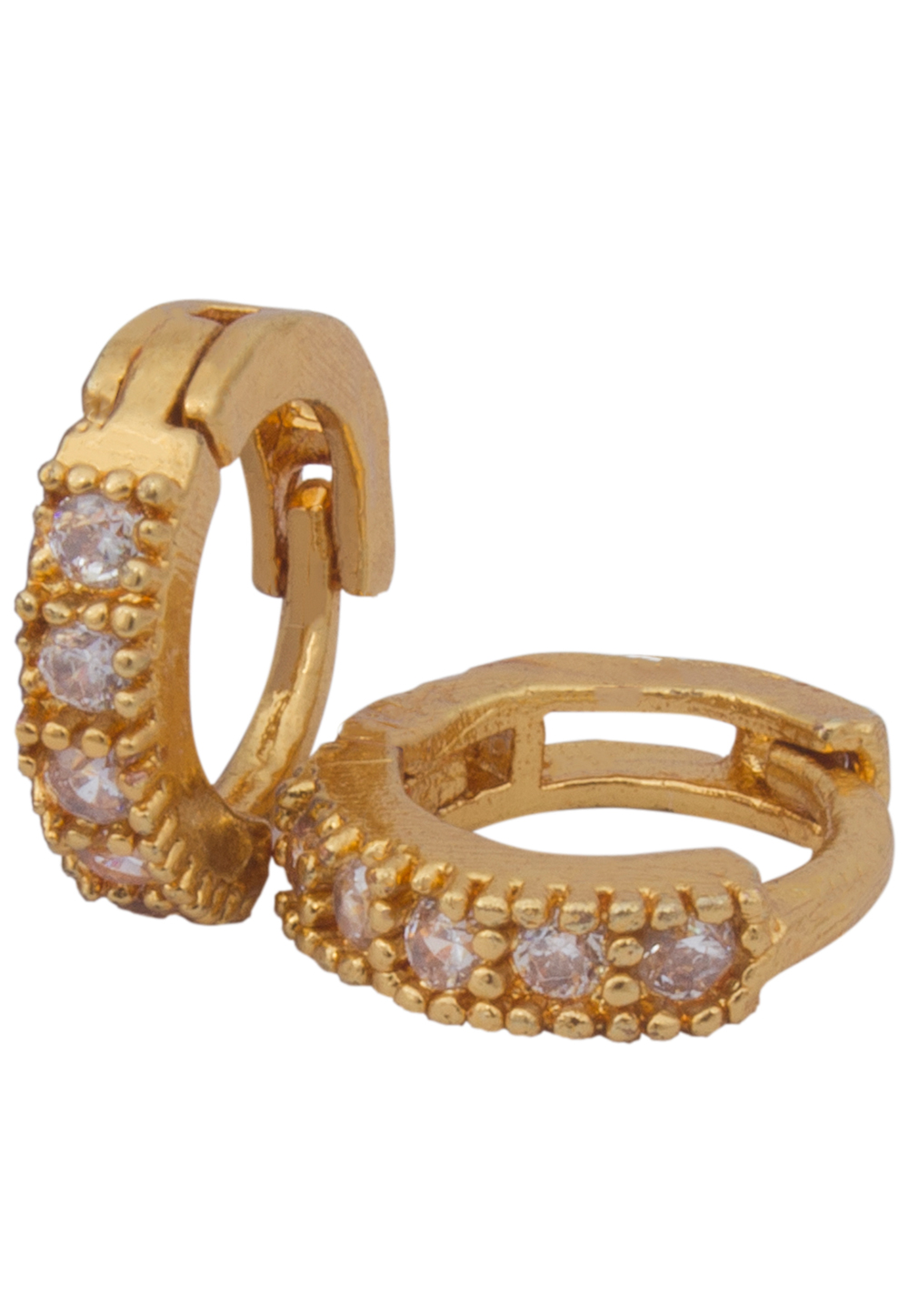 Golden Alloy Earrings 179727