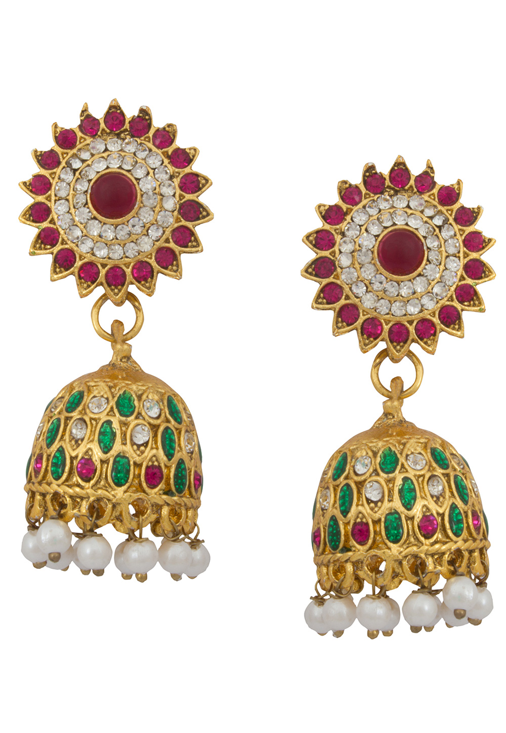 Green Alloy Earrings 179735