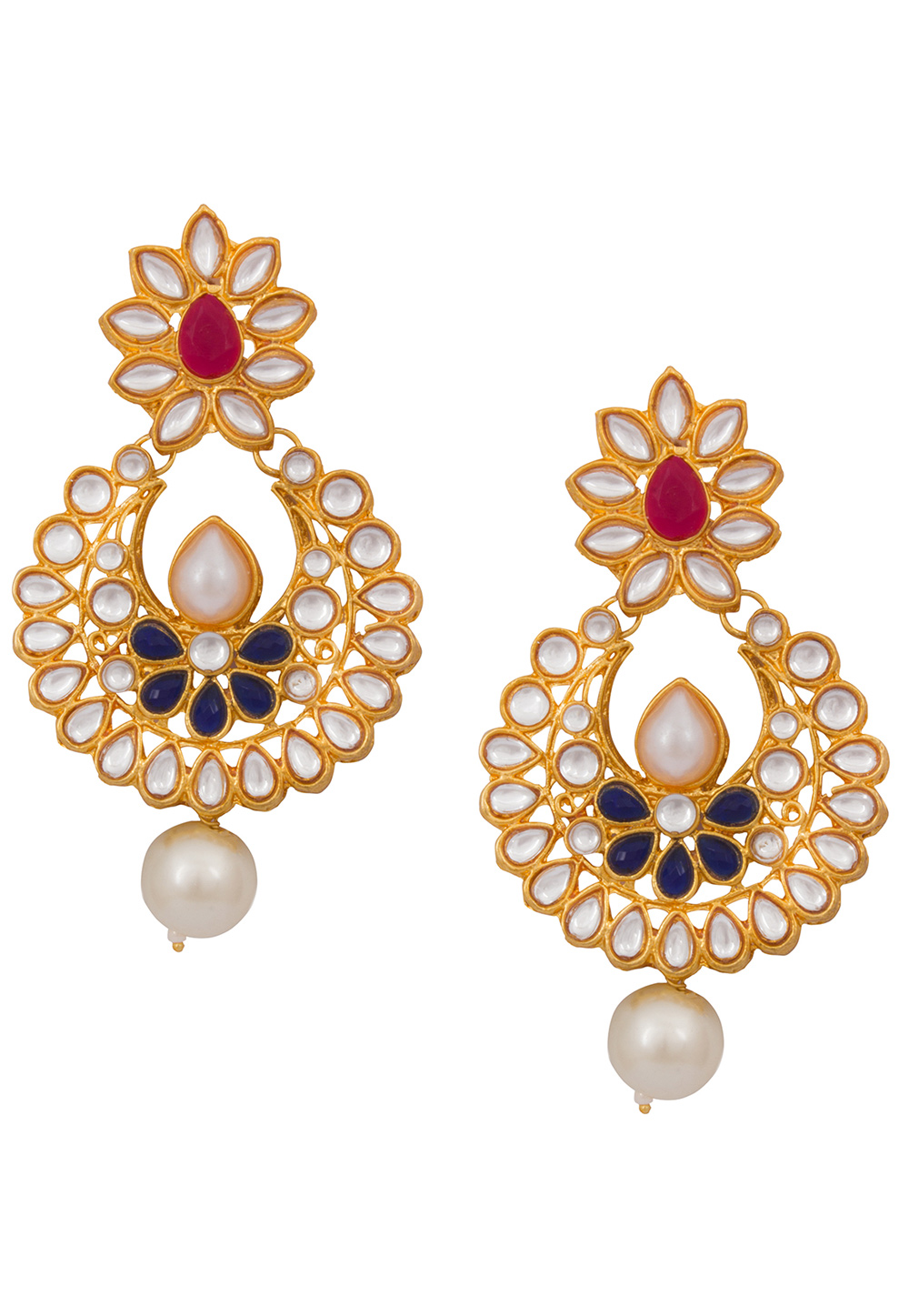 Golden Alloy Earrings 179736
