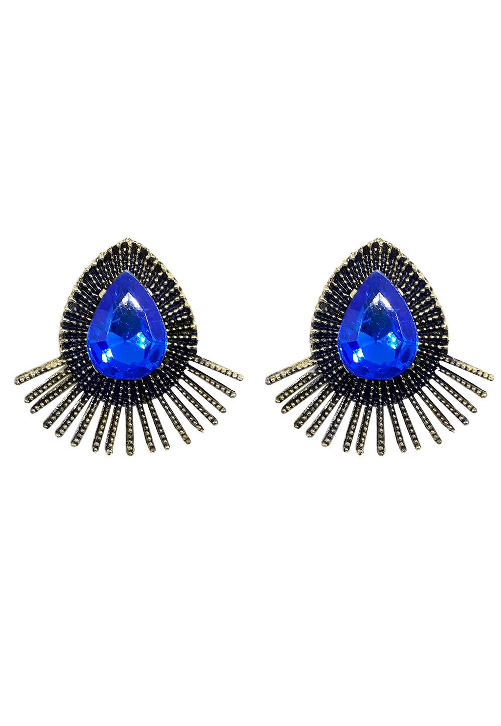 Blue Brass Earrings 164913