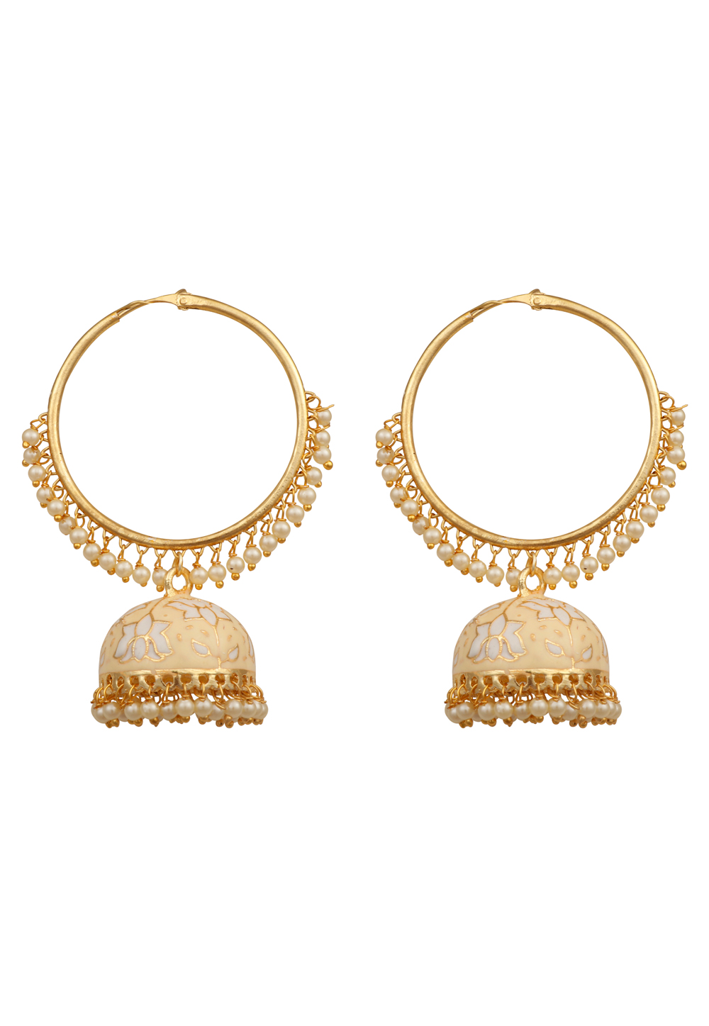 Golden Alloy Earrings 209984