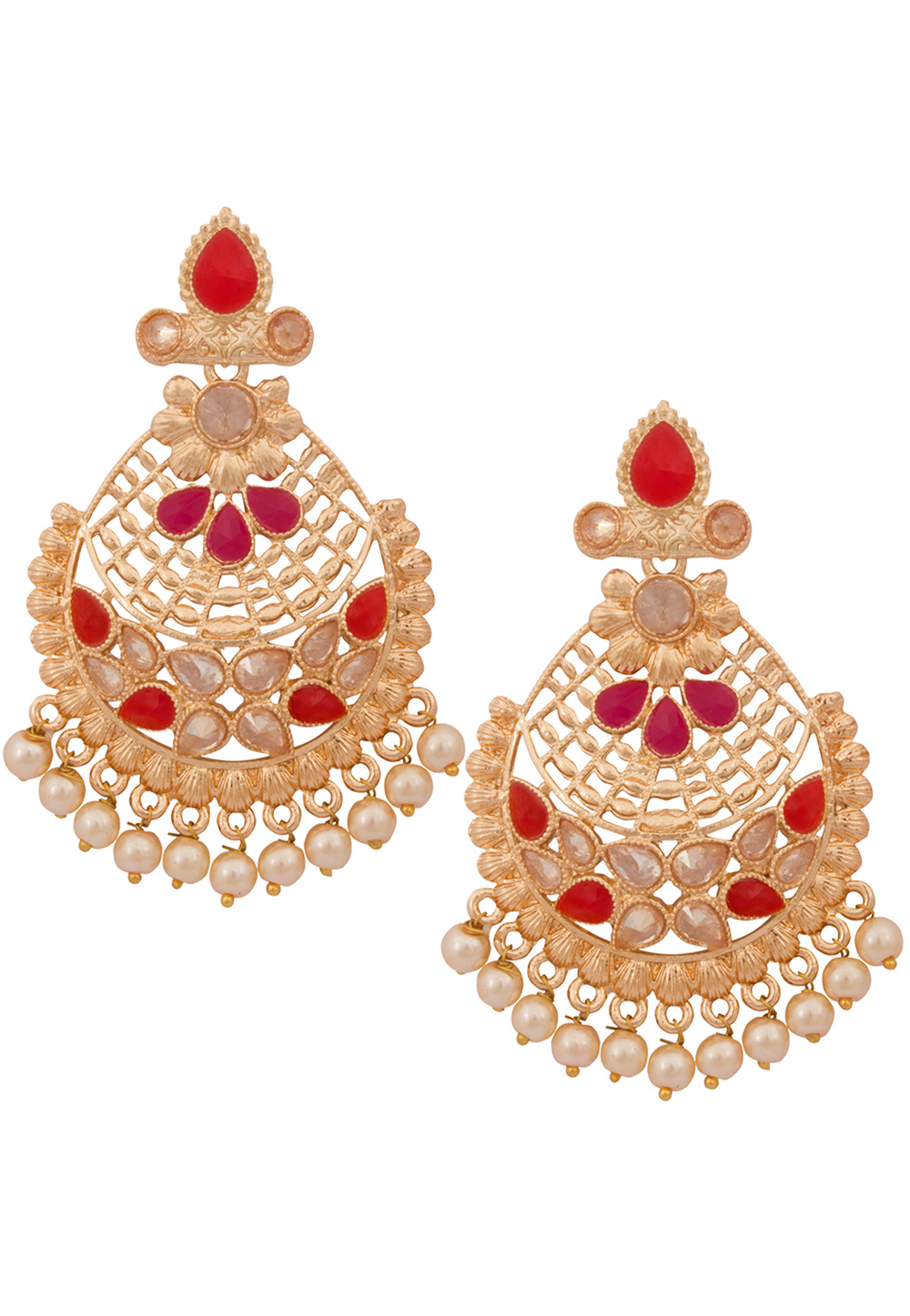 Golden Alloy Earrings 179743