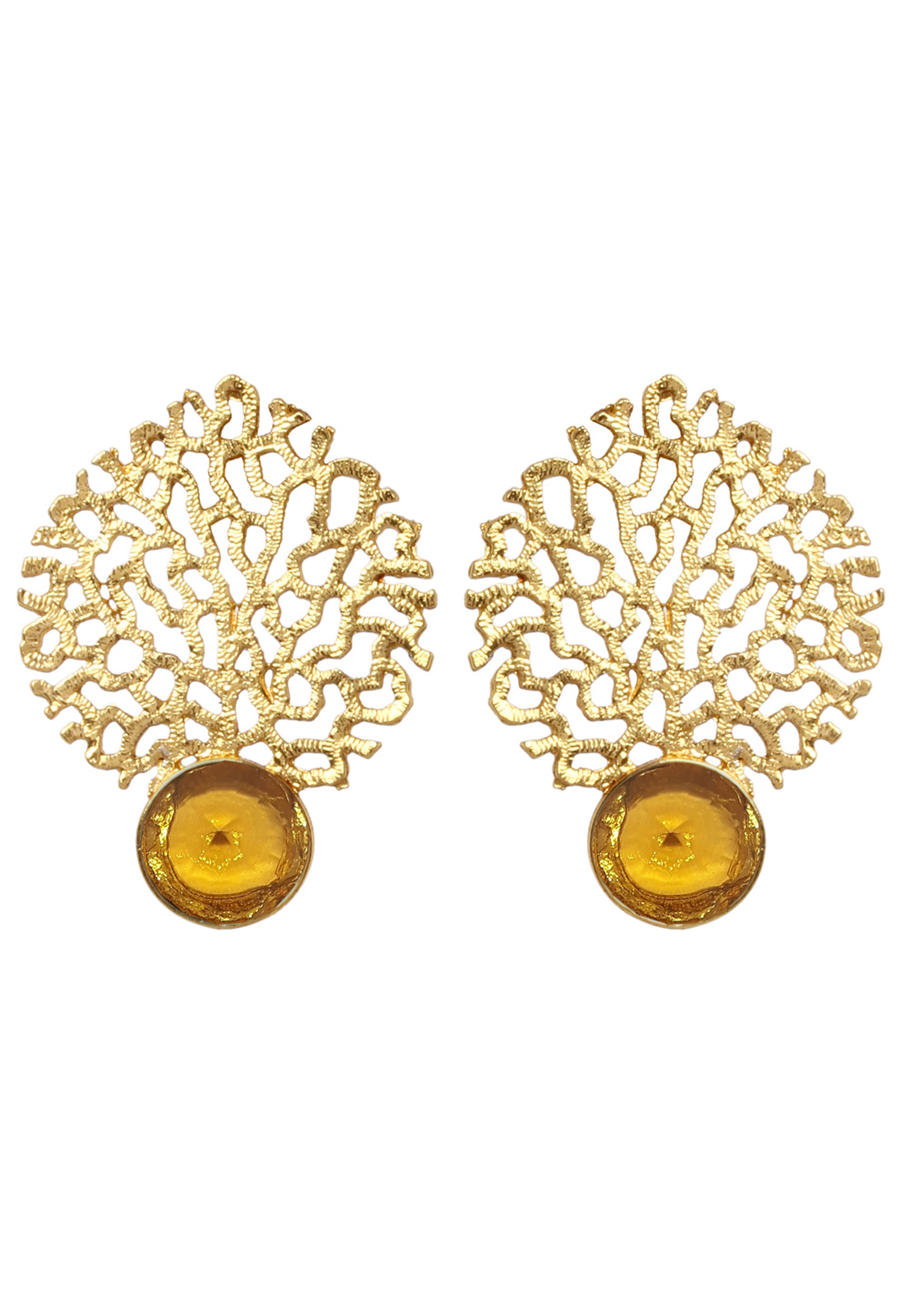 Golden Brass Earrings 184141