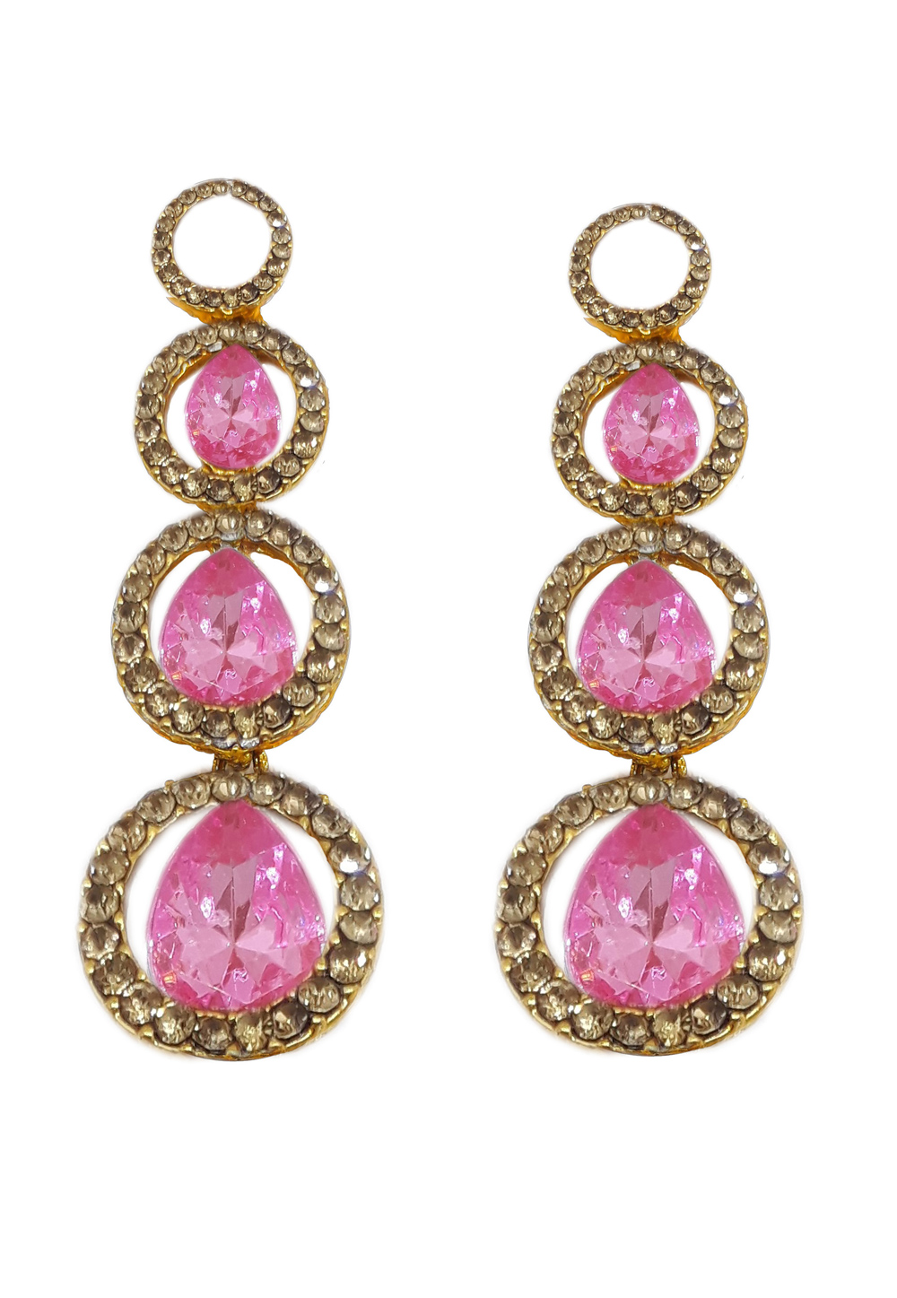 Pink Brass Earrings 184146