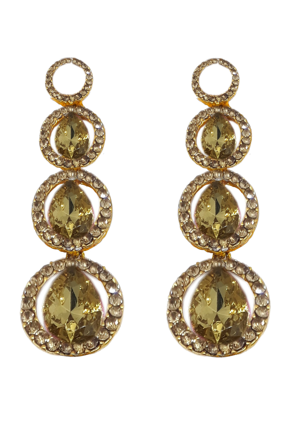 Golden Brass Earrings 184147