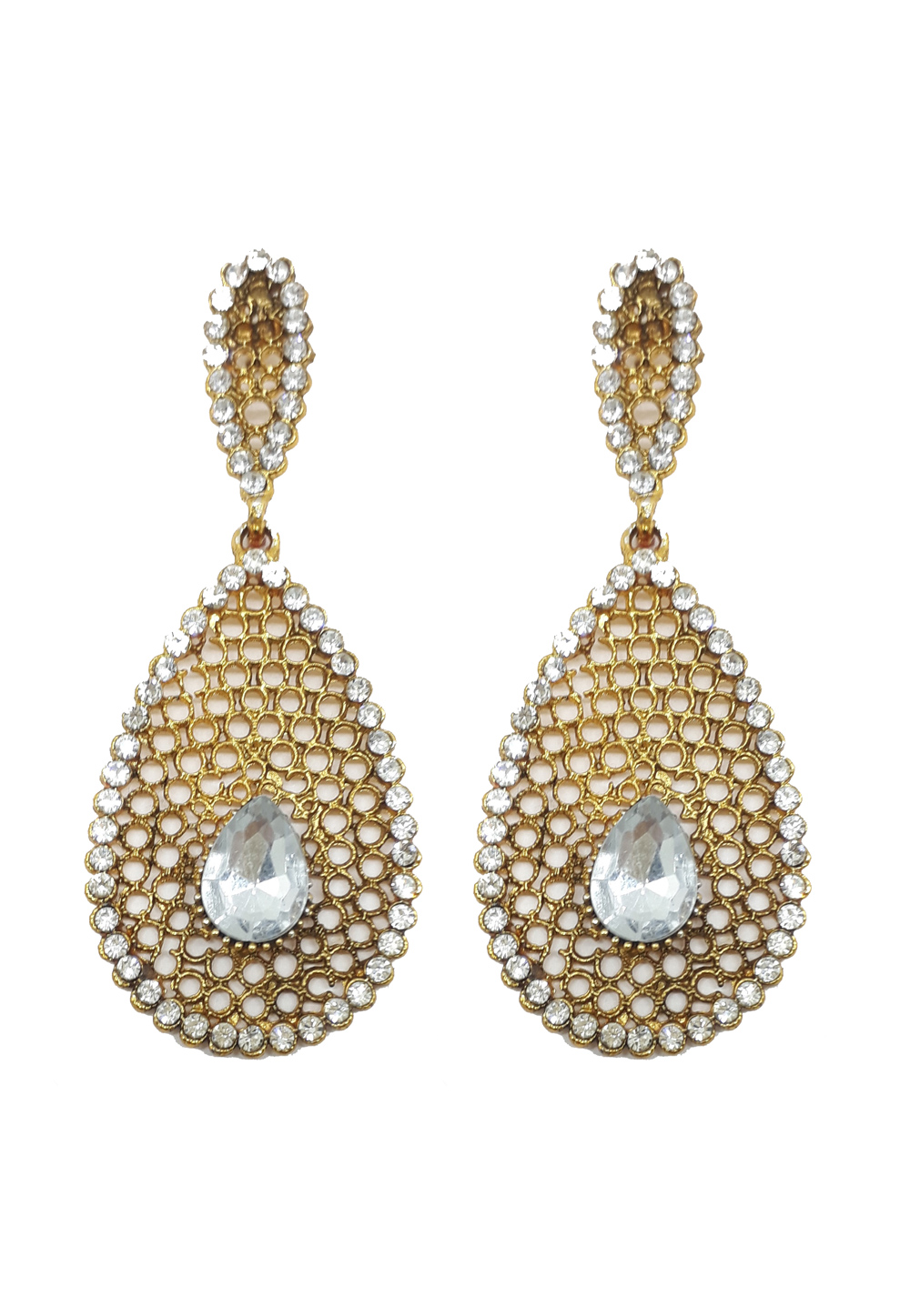White Brass Earrings 184148