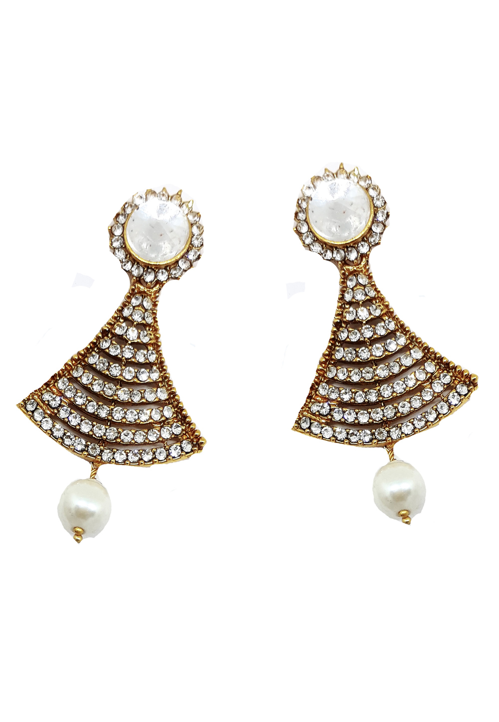 White Brass Earrings 184157