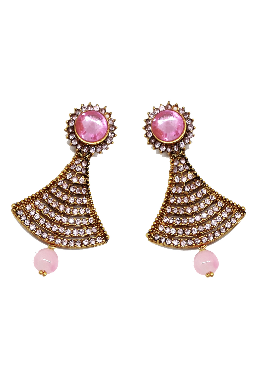 Pink Brass Earrings 184160
