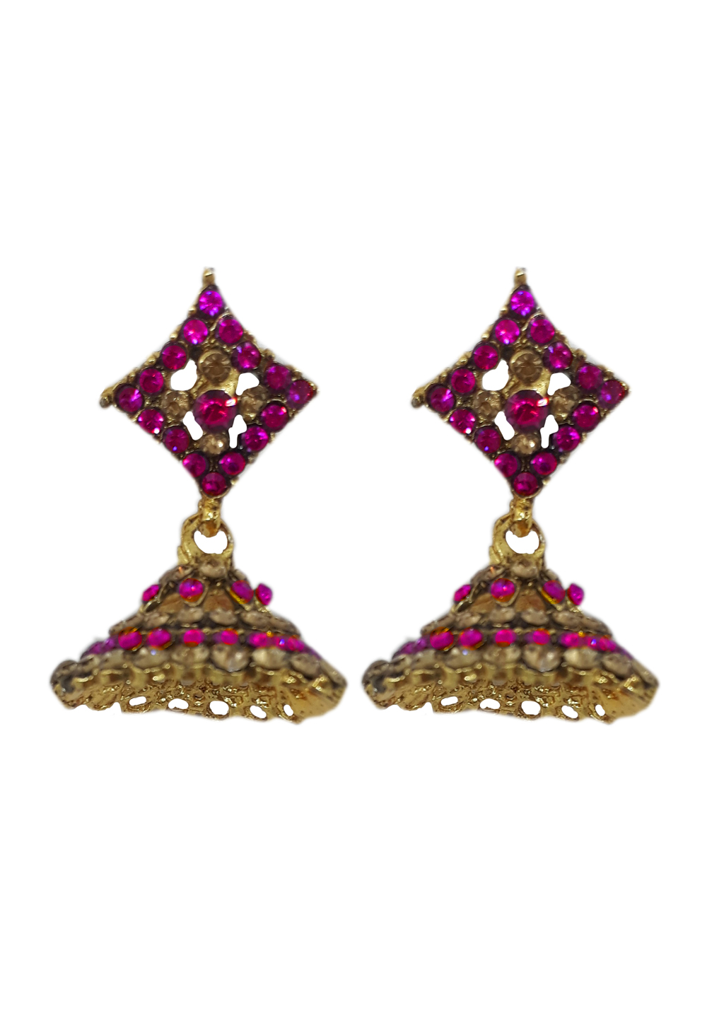 Pink Brass Earrings 184161