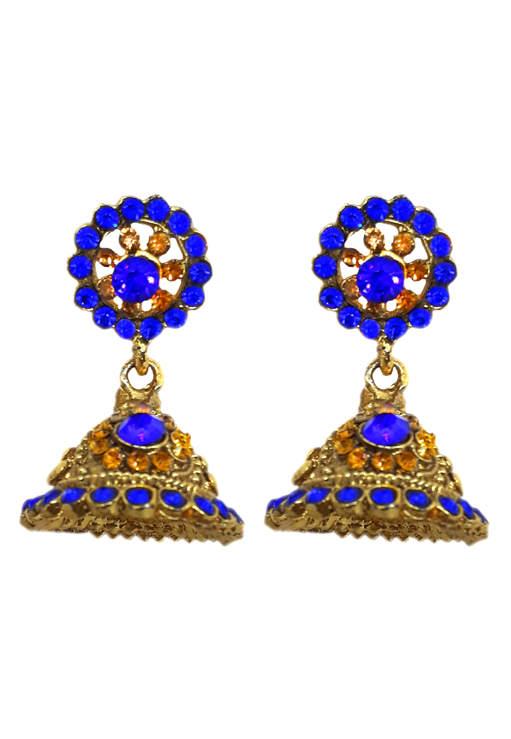 Blue Brass Earrings 184162