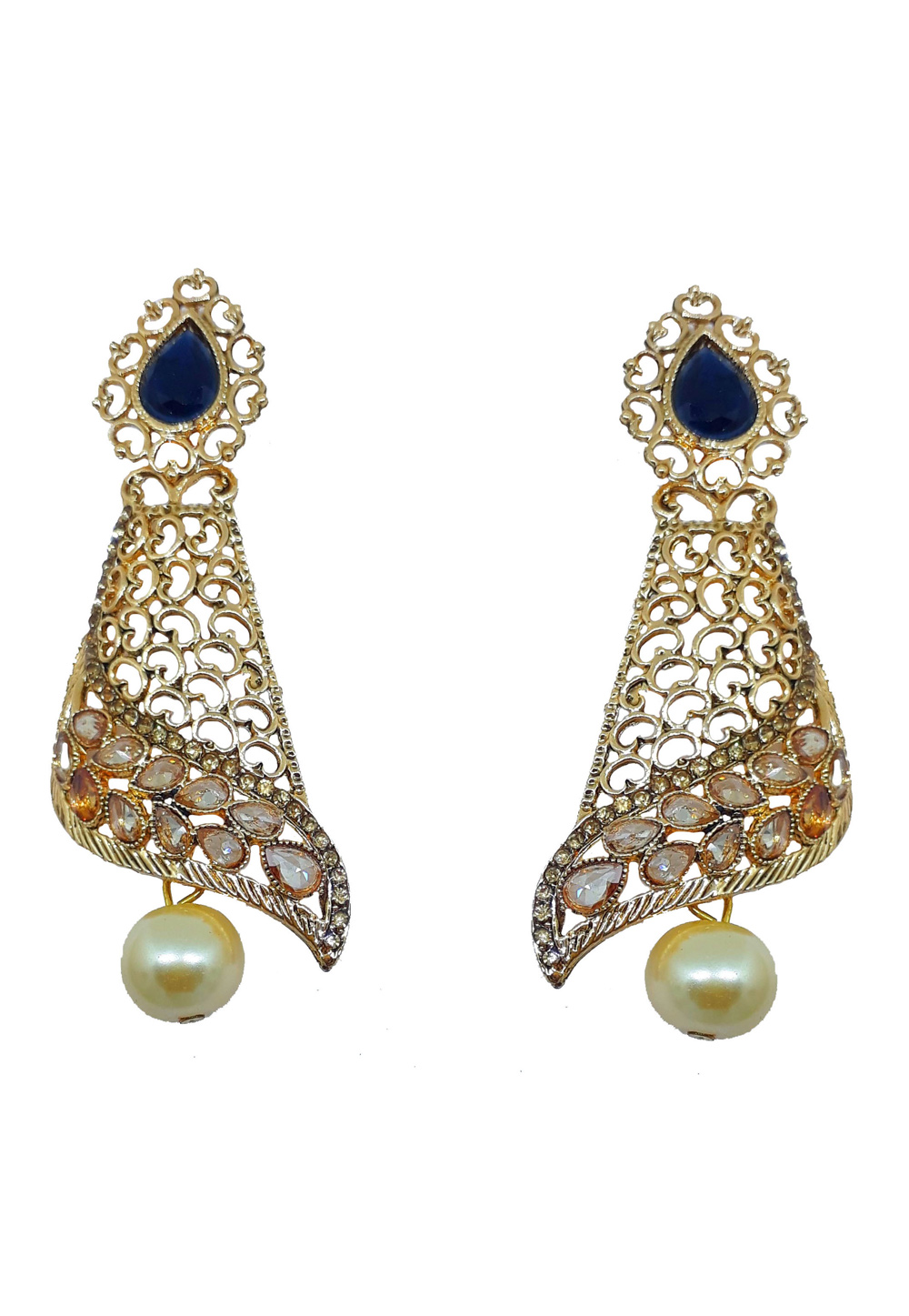 Blue Brass Earrings 184169