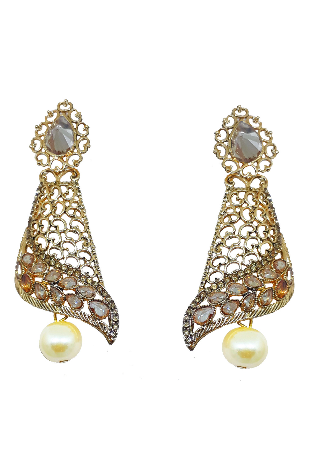 White Brass Earrings 184170