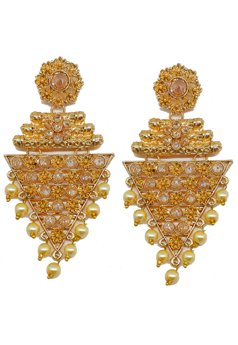 White Brass Earrings 184181