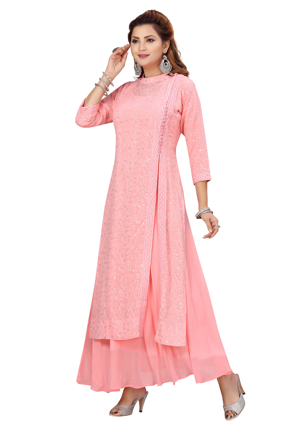 Pink Georgette Tunic 224449