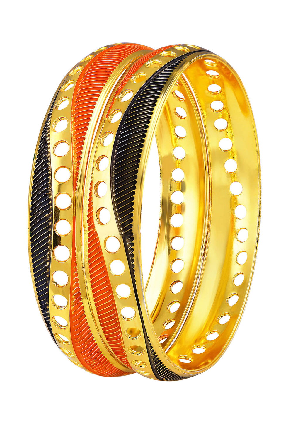 Orange Brass Bangle 191372