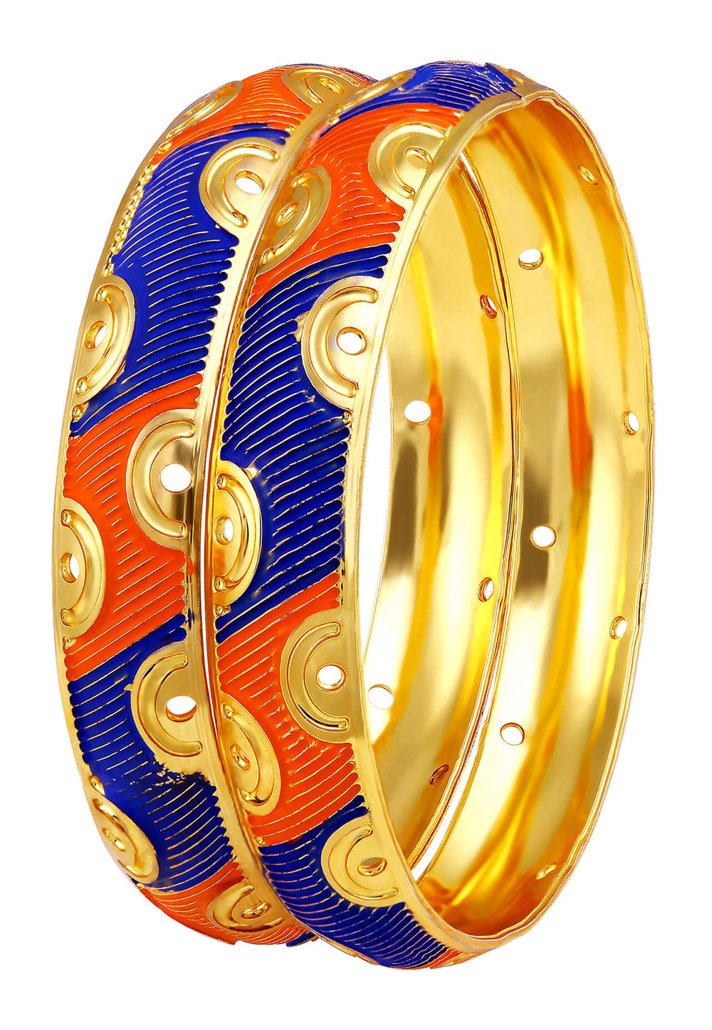 Blue Brass Bangle 191373