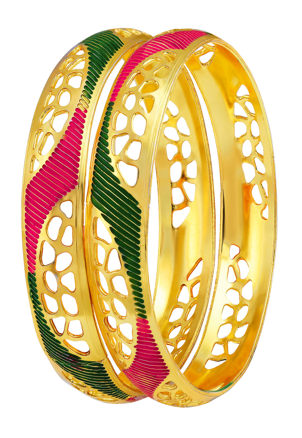 Green Brass Bangle 191374