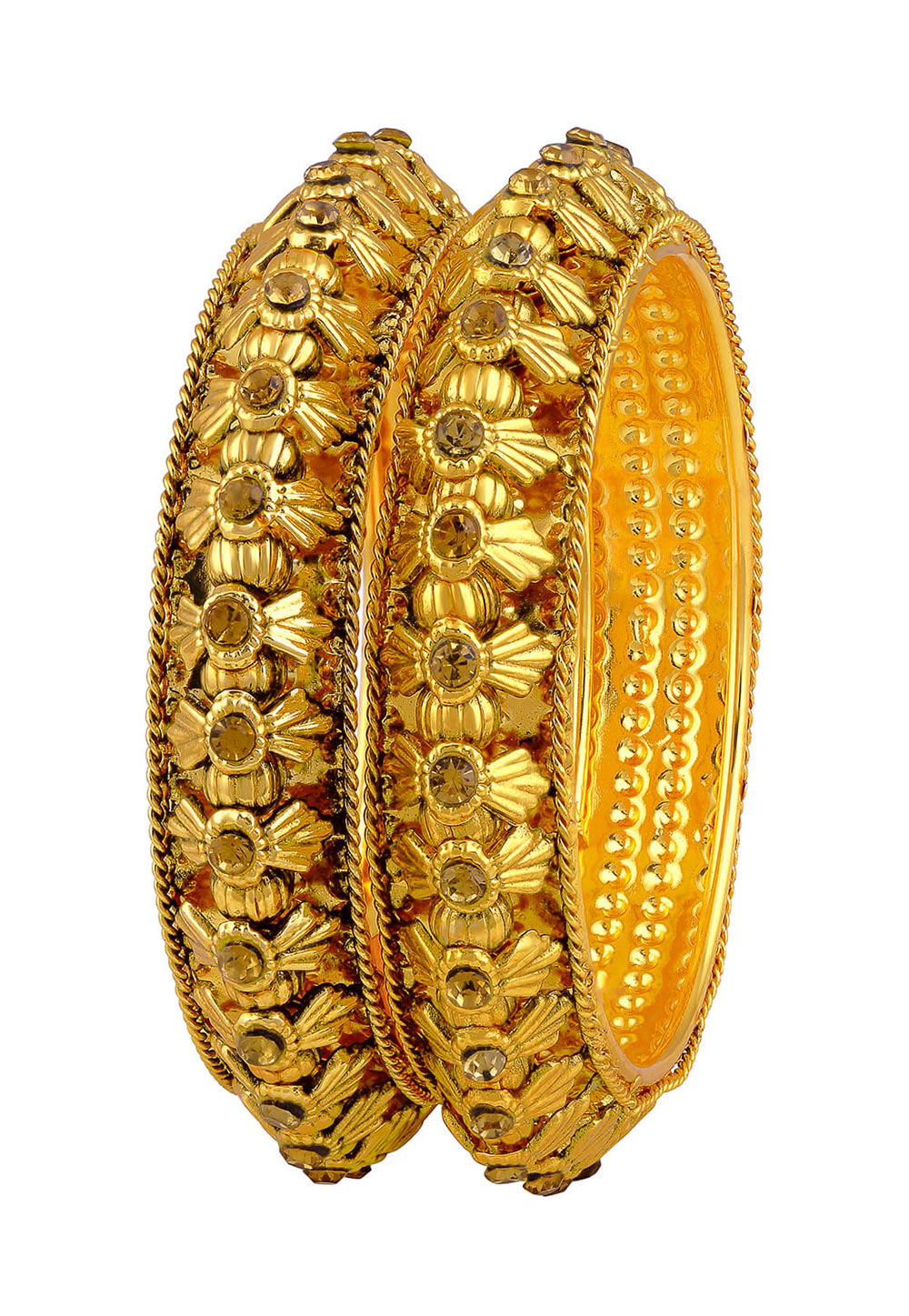 Golden Zinc Austrian Diamonds Bangle 191389