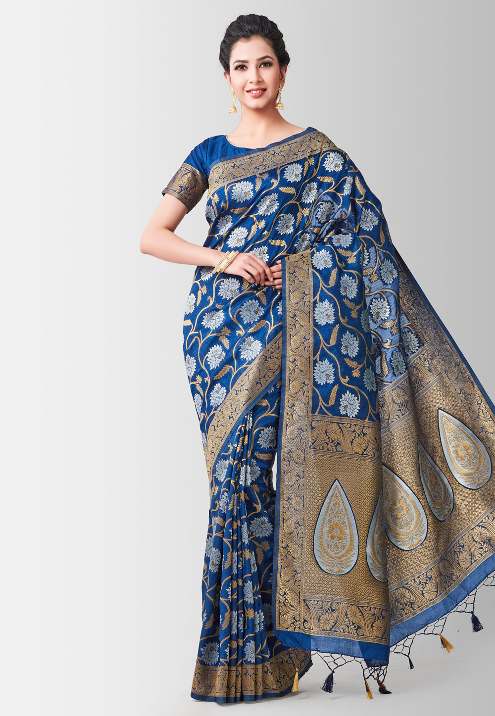 Blue Kanjivaram Silk Festival Wear Saree 185983