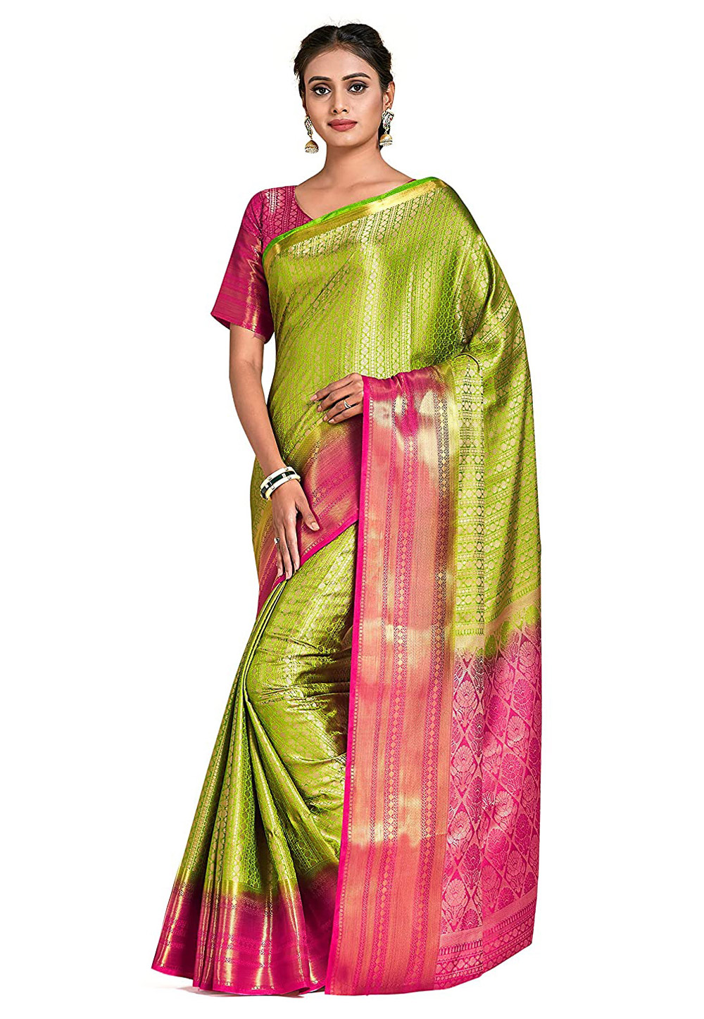 Green Kanjipuram Silk Festival Wear Saree 201479