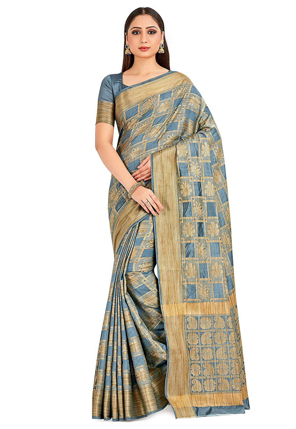 Grey Banarasi Festival Wear Saree 201483