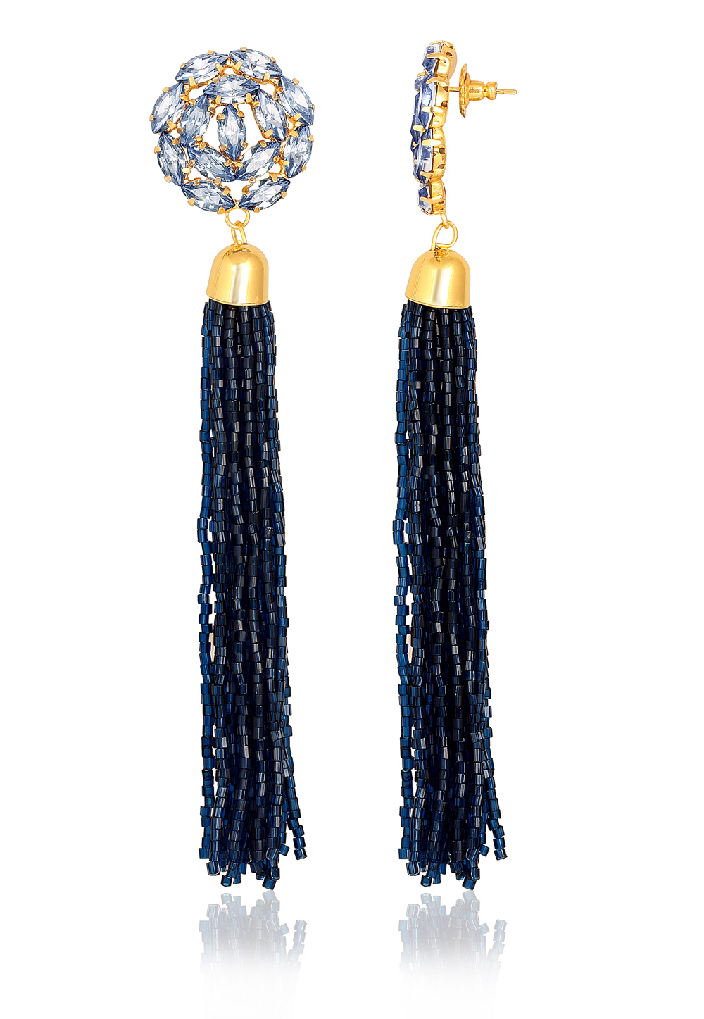 Blue Zinc Danglers Earrings 191314