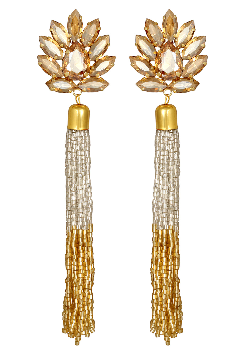Brown Zinc Danglers Earrings 191315