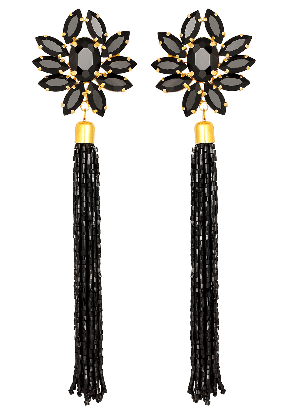 Black Zinc Danglers Earrings 191316