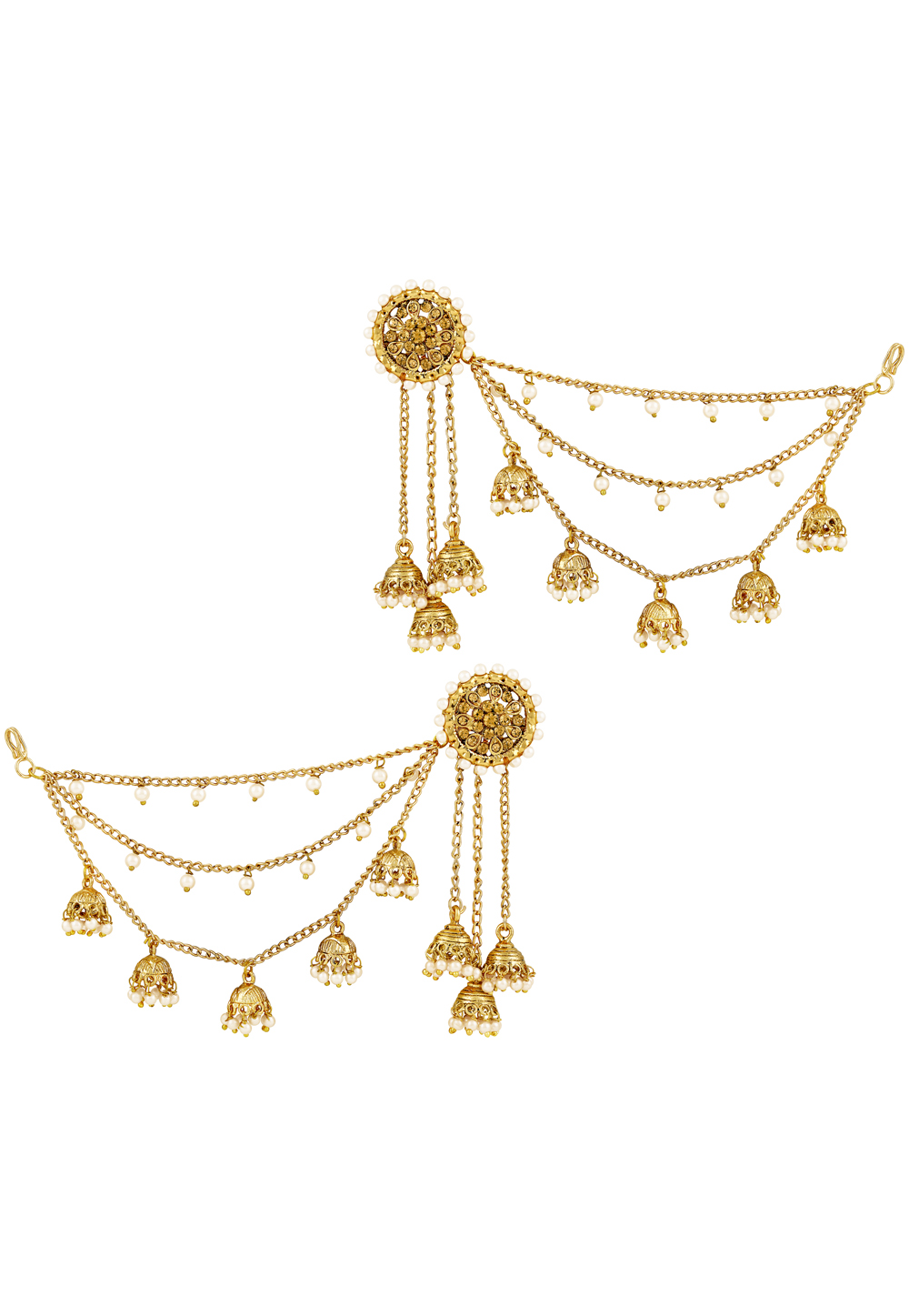 Golden Zinc Earrings 191336