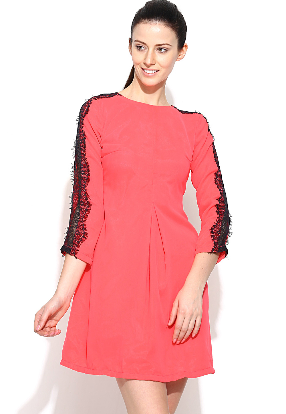 Pink Faux Georgette Readymade Party Wear Tops 188737