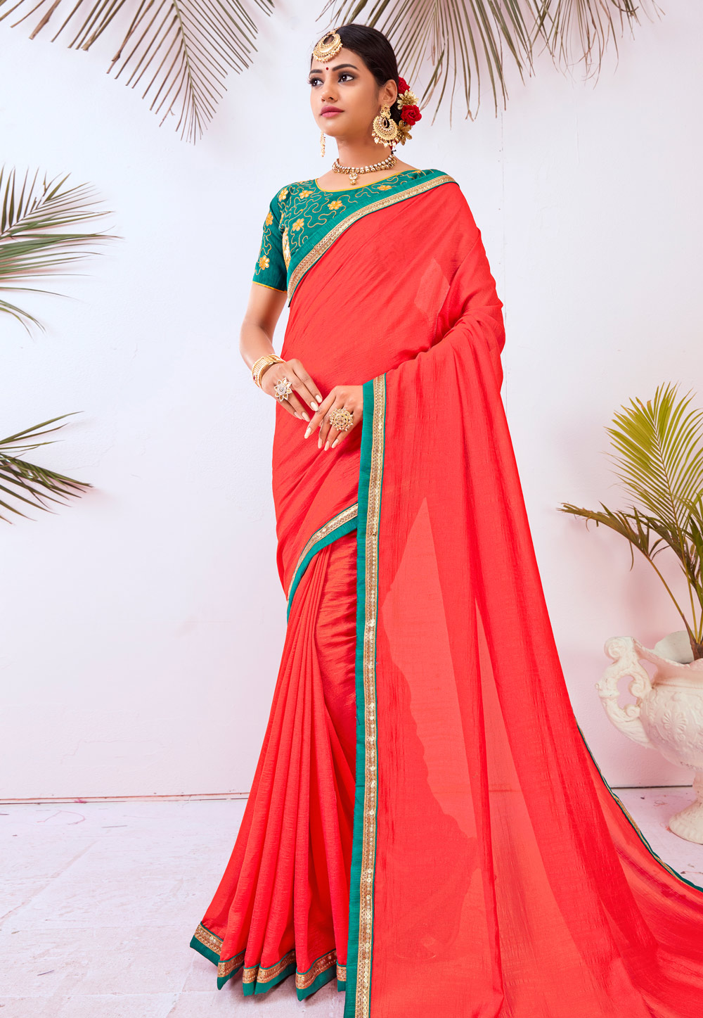 Red Silk Festival Wear Saree 196770
