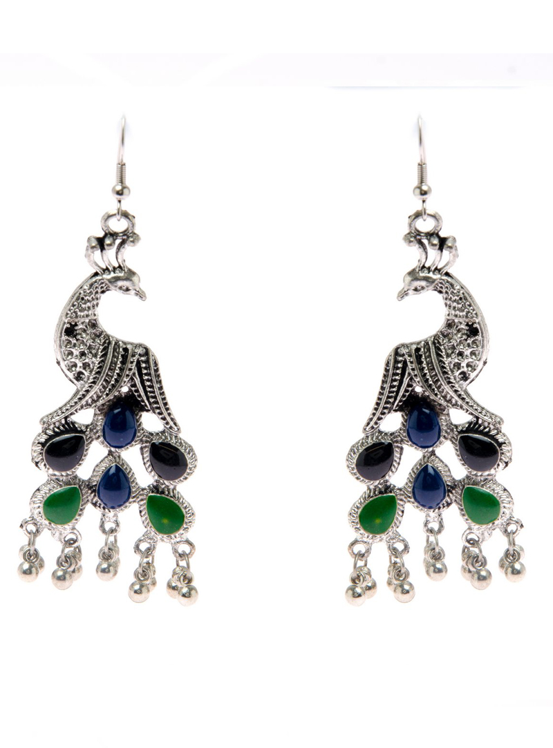 Green Brass Earrings 153242