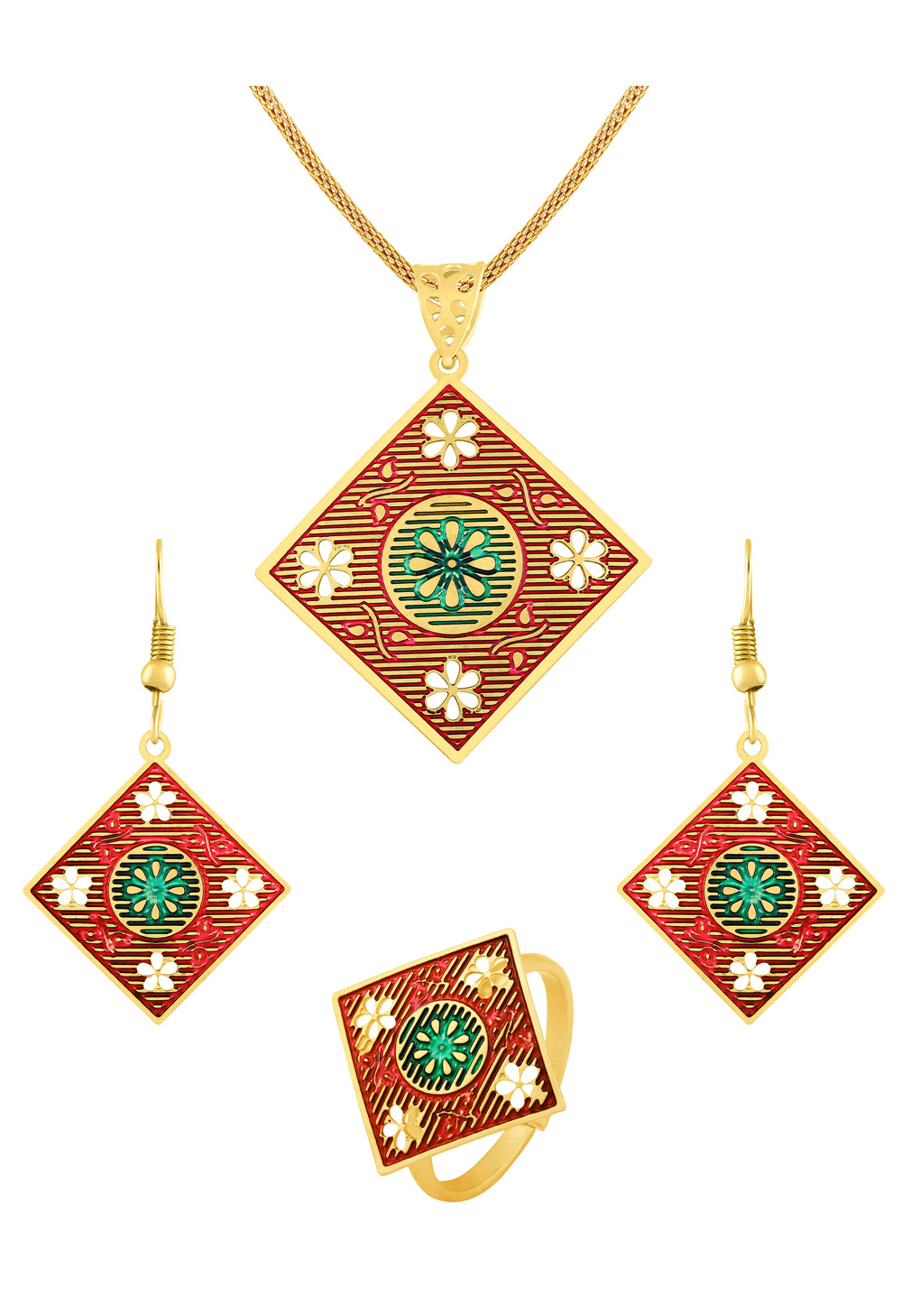 Red Zinc Pendant Set 191228