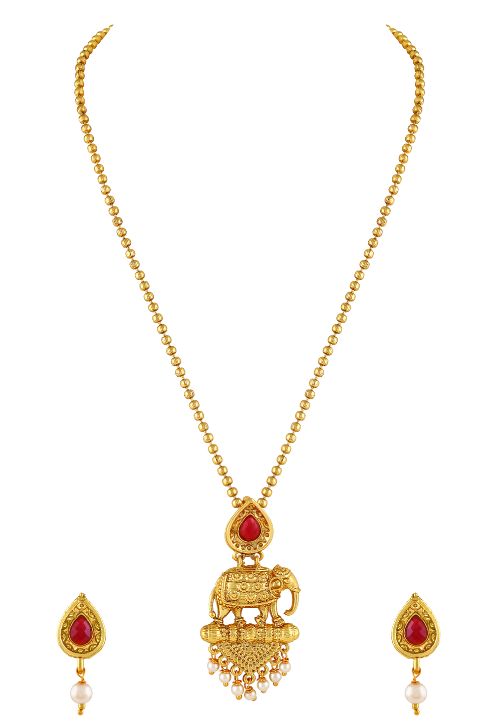 Golden Zinc Pendant Set 191232
